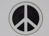 PEACE SIGN 3D EFFECT FRIDGE MAGNET